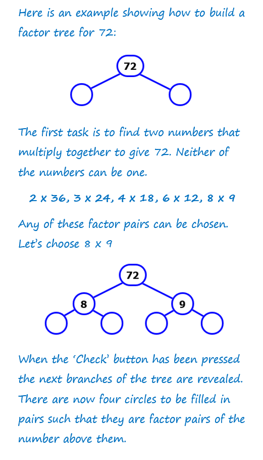 factor tree worksheets free