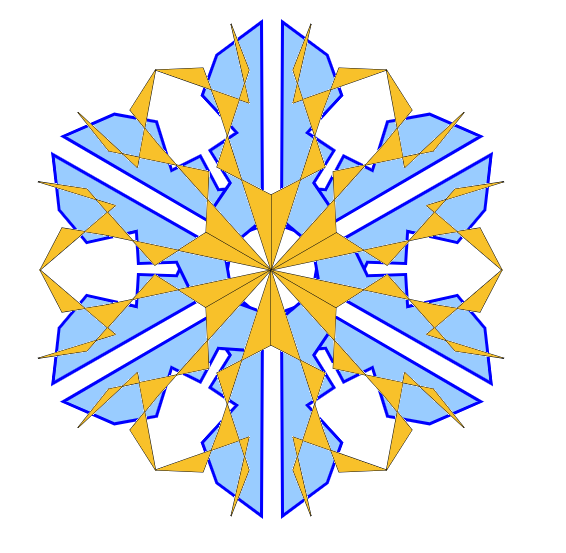 Two-colour snowflake