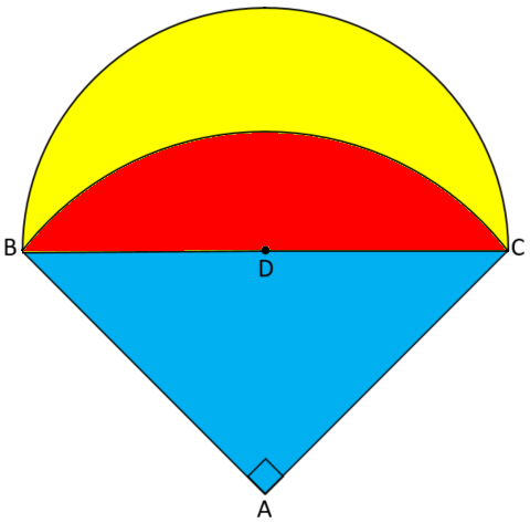 Two segments and a triangle