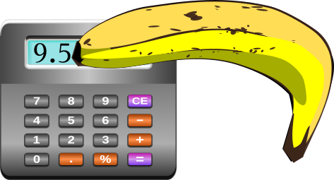 Banana on calculator