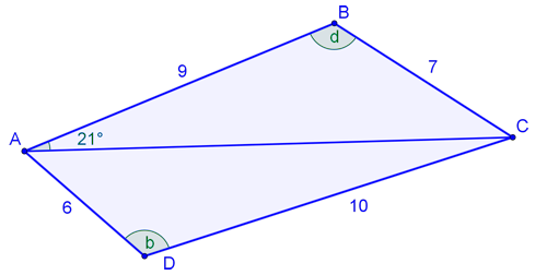 Exam style questions on trigonometry the diagram shows quadrilateral abcd lengths are given in centimetres a use the cosine rule to show that ccuart Images