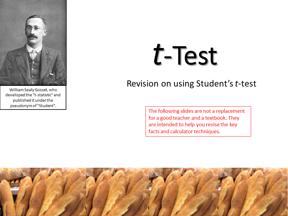 t-Test Revision