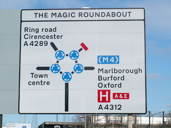 Magic Roundabout Sign