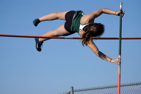 Woman Pole Vaulting