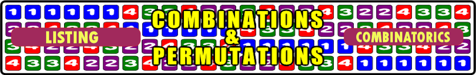 Combinations Lesson Starters and Online Activities