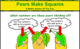 Pears Make Squares