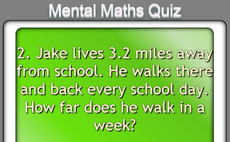 Mental Maths Quiz