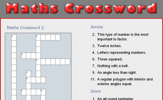 Maths Crossword