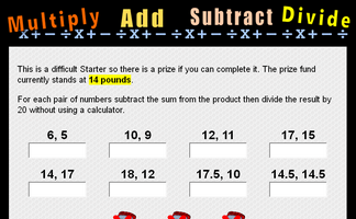 Multiply, Add, Subtract and Divide