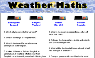 Weather Maths