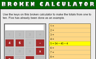 Broken Calculator (4 and 5)