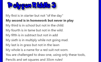 Polygon Riddle 3