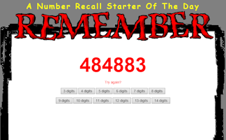 Number Recall