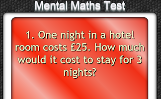 Mental Maths Test