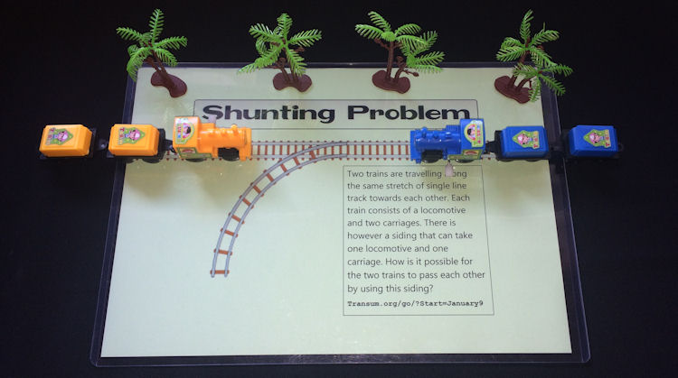 Toy Trains Shunting Problem