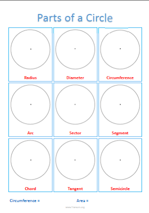 Practice Naming a Circle&#39s Components 3 | Worksheet | Education.com