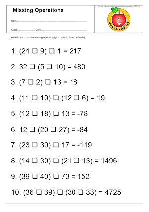 Printable Order Of Operations Worksheets Worksheets for all ...