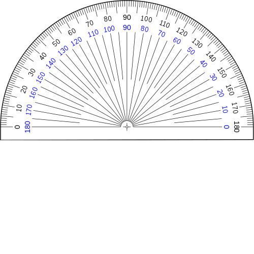 image relating to 360 Degree Protractor Printable known as Measuring Angles